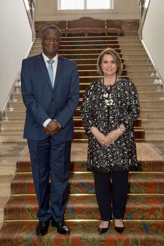 Réunion de travail avec le Docteur Denis Mukwege