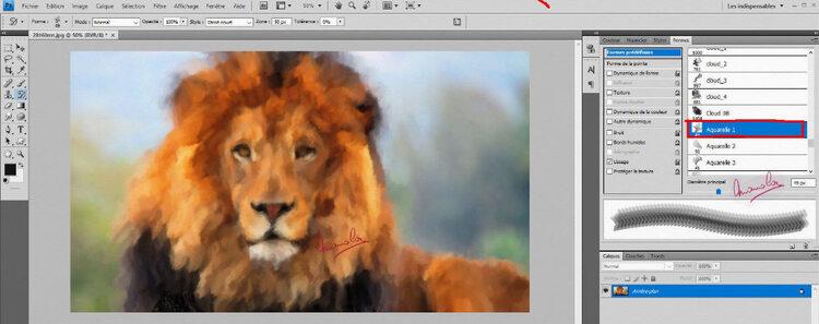 Tutoriel peindre avec photoshop