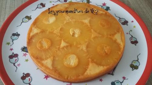 gâteau renversé à l'ananas sans beurre