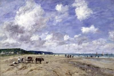 The_Beach_at_Tourgeville_1893_Eugene_Boudin_305737