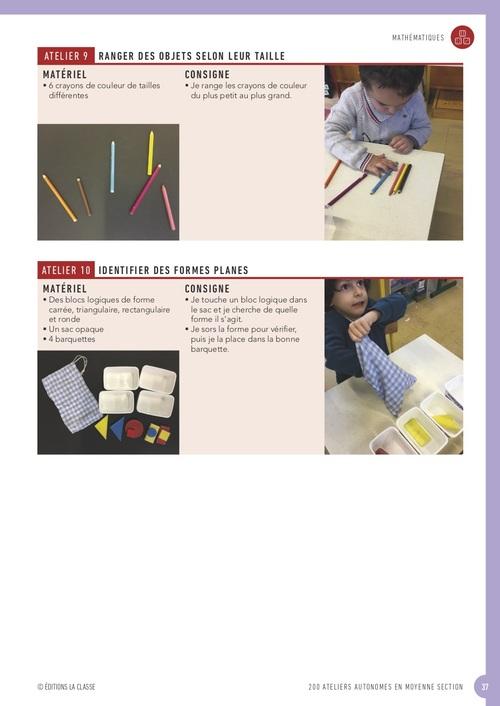 """Mon livre """"200 ateliers autonomes en MS"""" bientôt dispo !"""