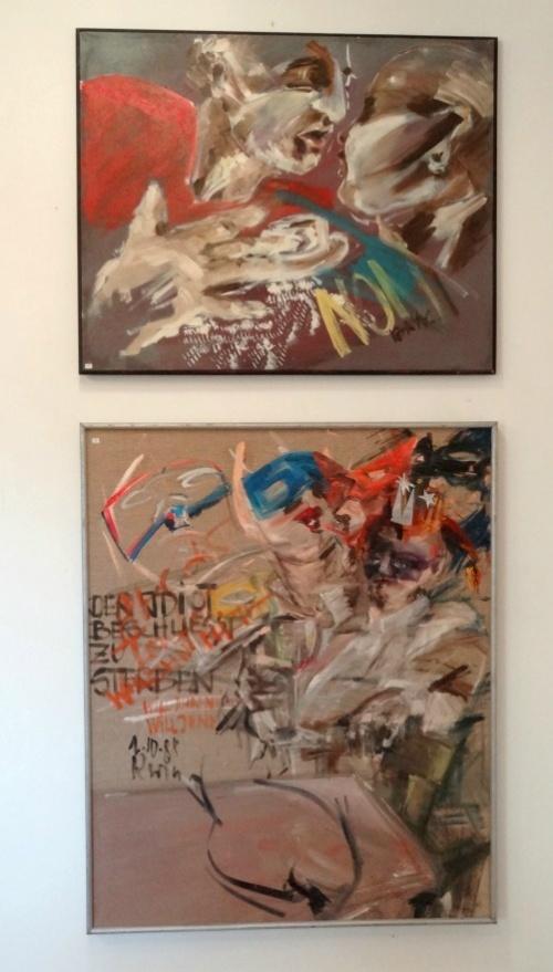 Karin Neumann a exposé au Musée de Noyers sur Serein...