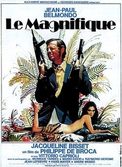 LE MAGNIFIQUE AFFICHE FRANCAISE 1973 JEAN PAUL BELMONDO ET JAQUELINE BISSET