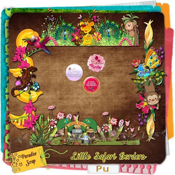 Little safari une collaboration de JosyCréations et de Desclics