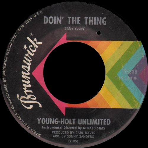 Young-Holt Unlimited :  Single SP Brunswick Records 55338 [ US ]
