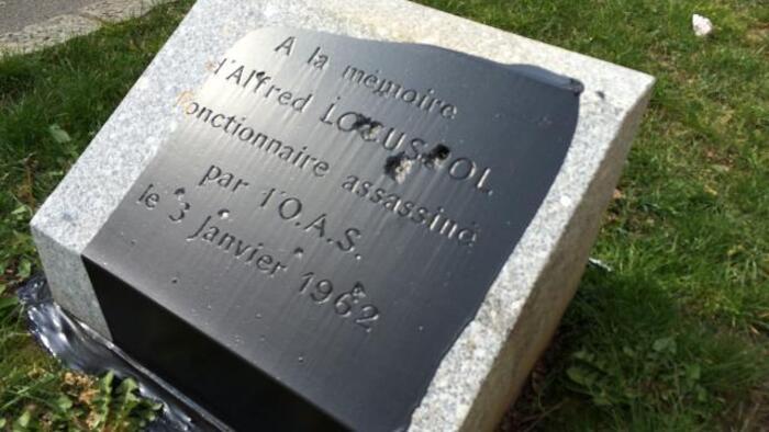 Aubergenville : La stèle en hommage aux soldats d'Afrique du Nord vandalisée