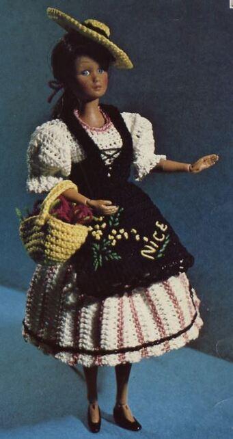 La robe Barbie au crochet modèle régional :la corse