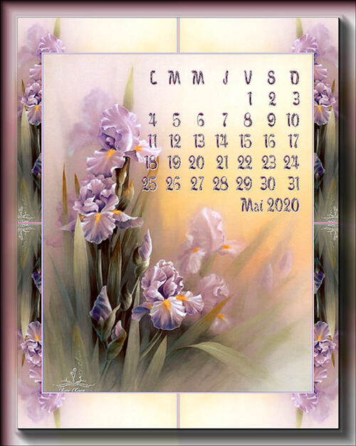 calendrier mai  2020