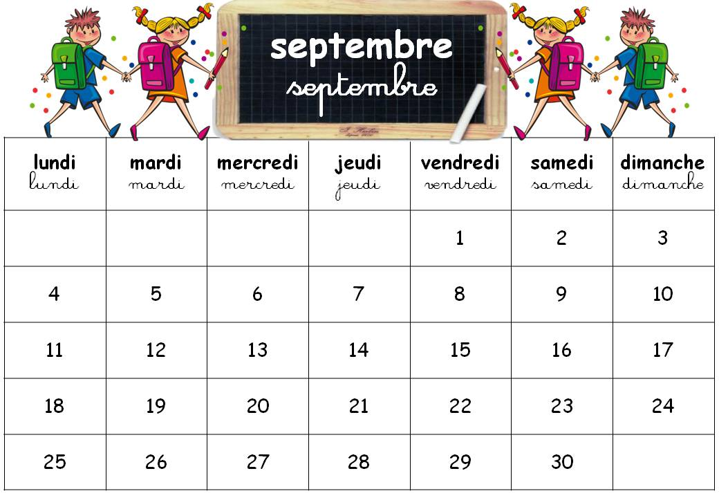 calendrier ecole maternelle a imprimer. Black Bedroom Furniture Sets. Home Design Ideas