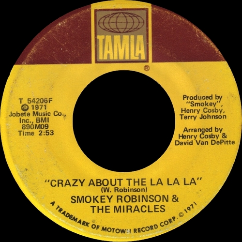 "Smokey Robinson & The Miracles : Album "" One Dozen Roses "" Tamla Records T-312L [ US ]"