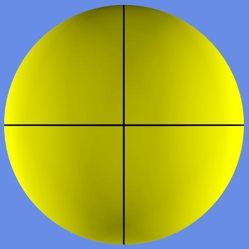Le rendu de la sphère avec Project from view