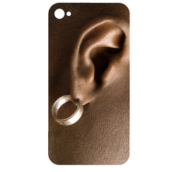 Stickers IPhone oreille percing Homme couleur