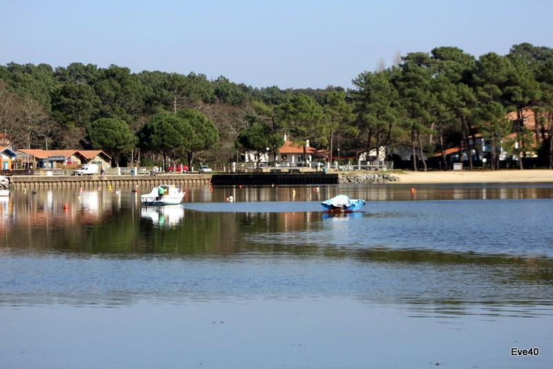 Le lac d'Hossegor. (Landes ).