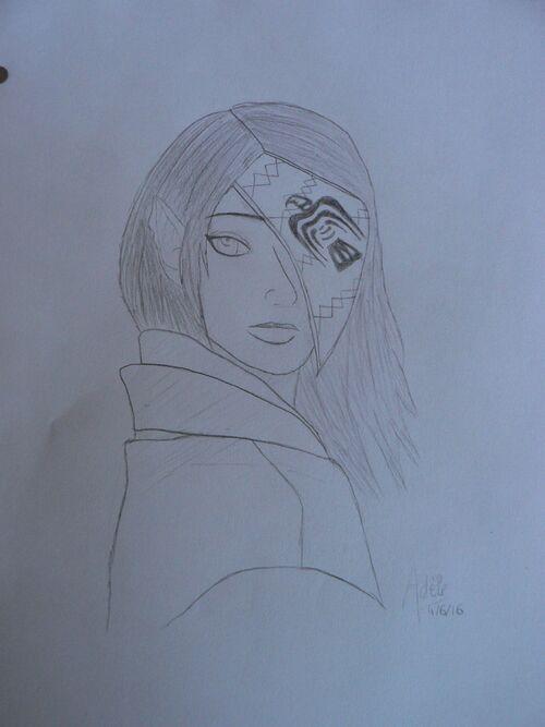 Dessin #7 - Princesse au masque