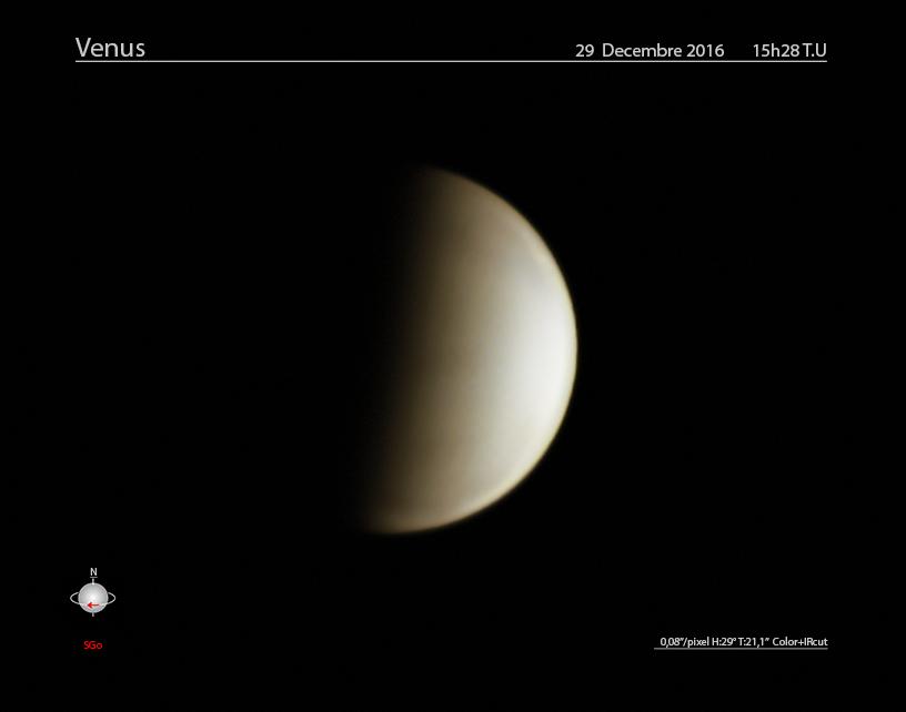 Venus le 29 decembre