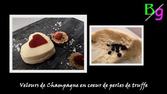 Velours de Champagne en coeur de perles de truffe