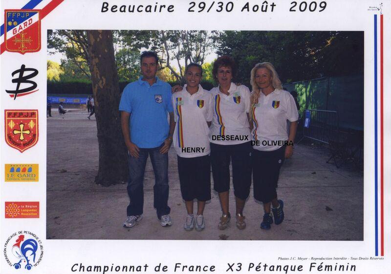 Les qualifiées féminine du 06 de 2003 à 2019