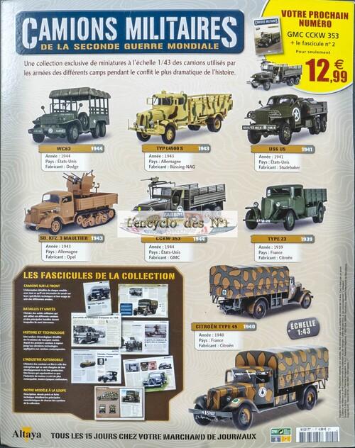 N° 1 Camions militaires de la seconde Guerre Mondiale - Test