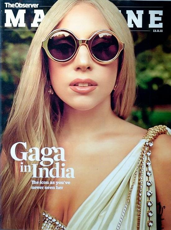 """Lady Gaga en couverture de """" The observer Magazine"""""""