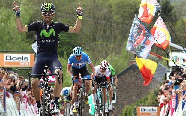 Alejandro Valverde remporte la Flèche Wallonne 2014