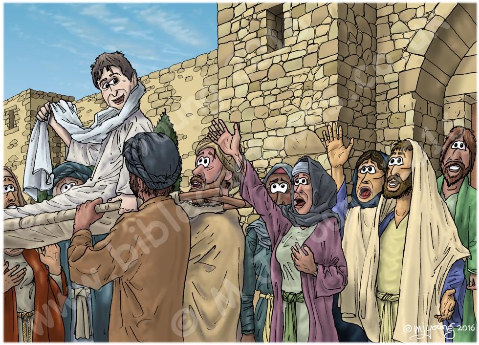 Luke 07 - Jesus raises a widow's son - Scene 03 - Reunited