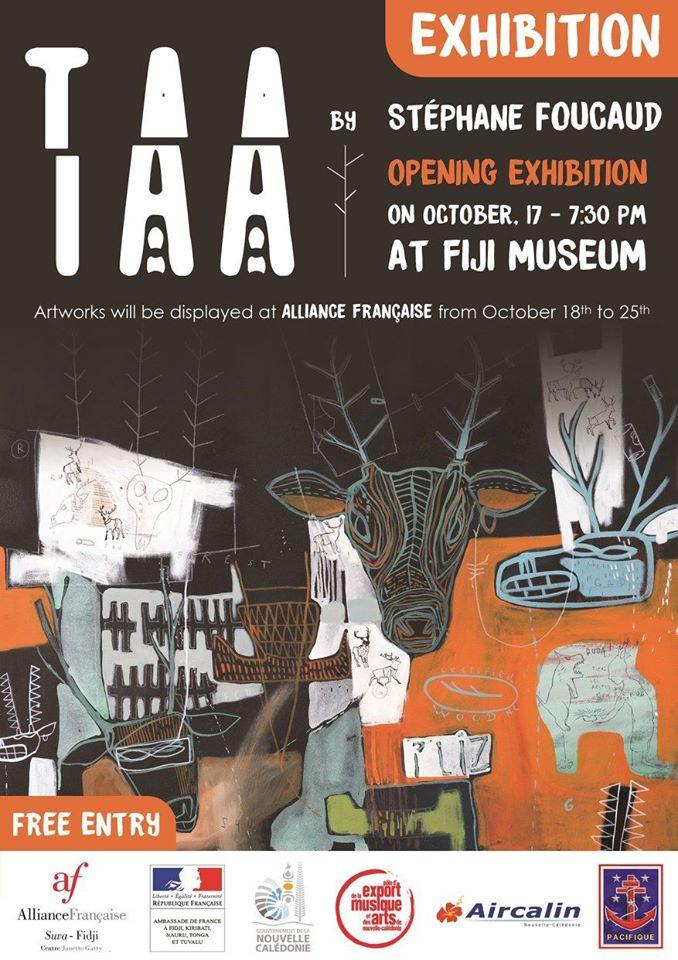 Stéphane FOUCAUD artiste plasticien calédonien expose au Fiji Muséum