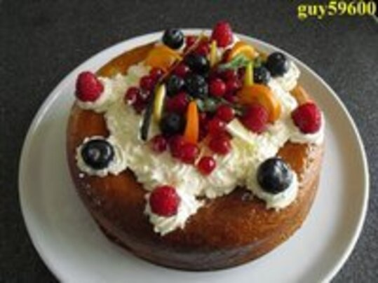 savarin aux fruits rouges