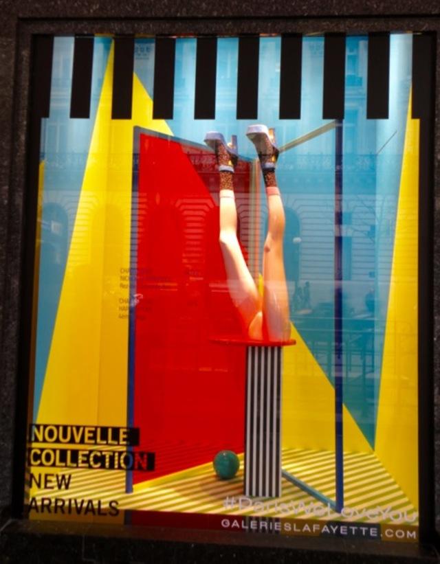 Les vitrines pop des Galeries Lafayette
