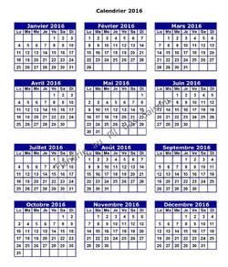 Mini calendrier 2016 !