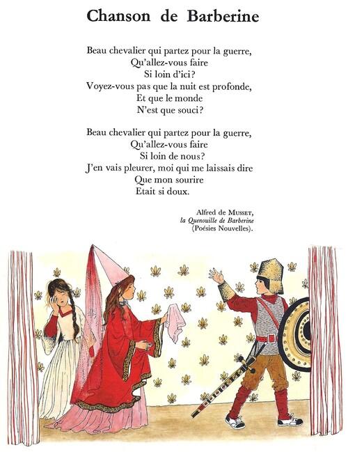 CHANSON DE BARBERINE (Alfred de Musset)
