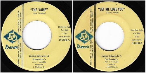 Jackie Edwards & The Soulmakers - complete singles / 1968-69