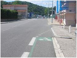 Axe nord-sud: 8.5 km de voies cyclables