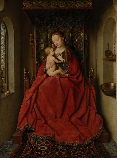 Jan Van Eyck, Vierge de Lucques, v. 1437-38, technique mixte sur bois (65,7 x 49,6 cm) Städel Museum, Francfort