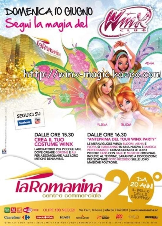 Affiche winx tour à la Romanina