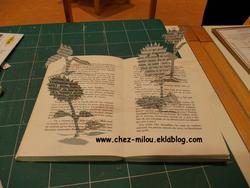 Sculture sur livre