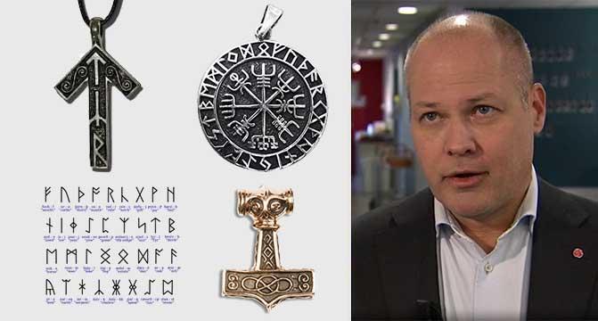 ⇒ Paganophobie : le gouvernement suédois veut interdire les Mjöllnir, les nœuds d'Odin et les runes viking
