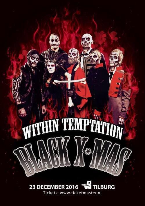 WITHIN TEMPTATION : Vidéos du Black X Mas le 23 décembre 2016 aux Pays Bas