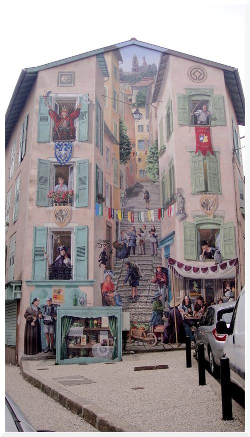 Le Puy-en-Velay. Trompe l'oeil.