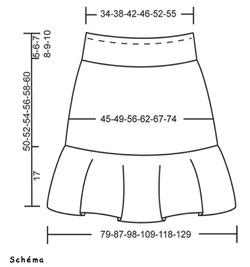 Jupe Bambou schéma