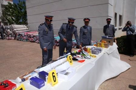 Info Gendarmerie: saisie d'une importante quantité de marchandise de contrebande à Settat