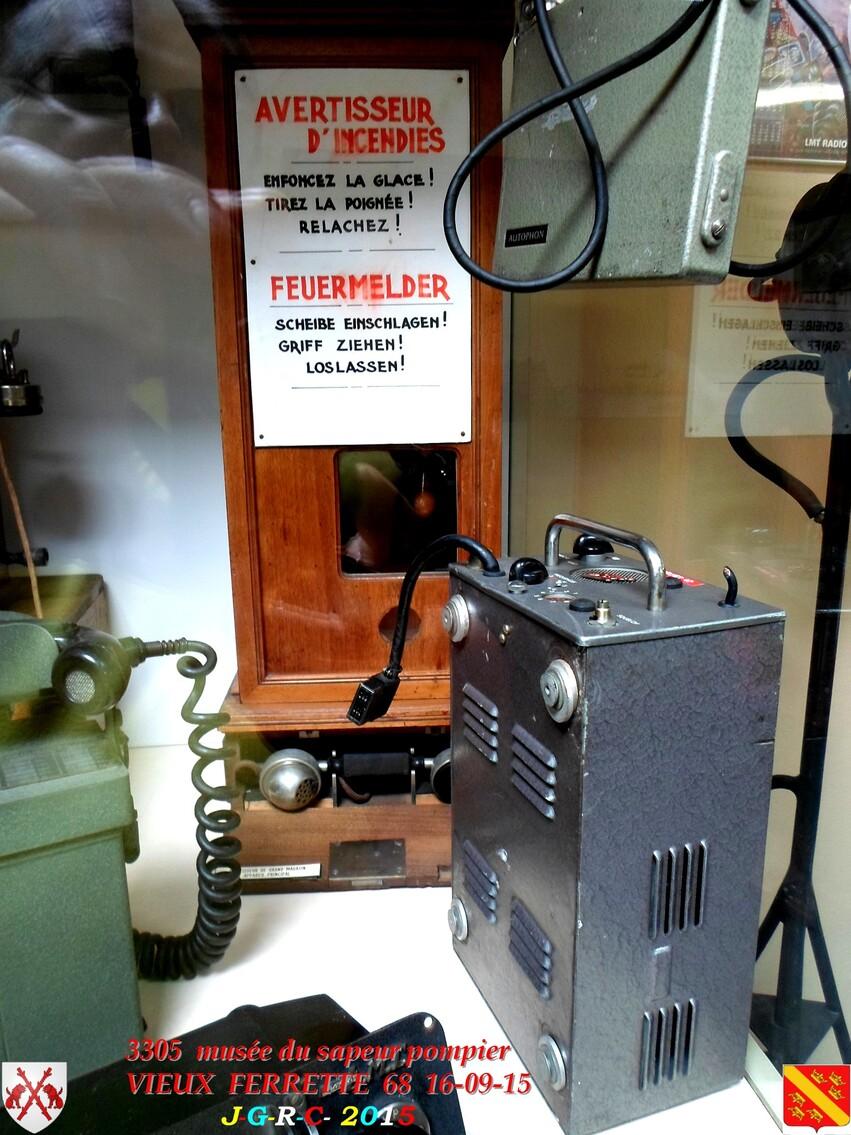 Musée du Sapeur Pompier d'ALSACE  2/3  17/26   VIEUX FERRETTE  68   D  22-02-2016