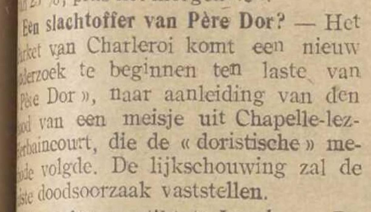 Een slachtoffer van Père Dor (Het Vlaamsche nieuws, 16 mai 1917)