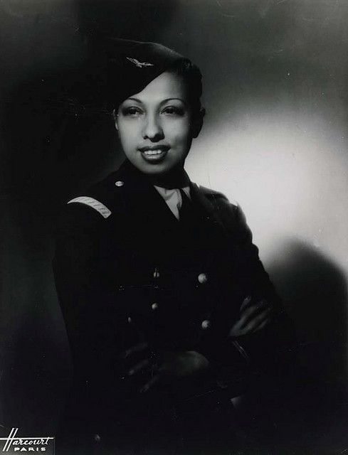 Josephine Baker in her World War II Uniform, c. 1945    During World War II, Josephine served with the French Red Cross and was an active member of the French resistance movement.: