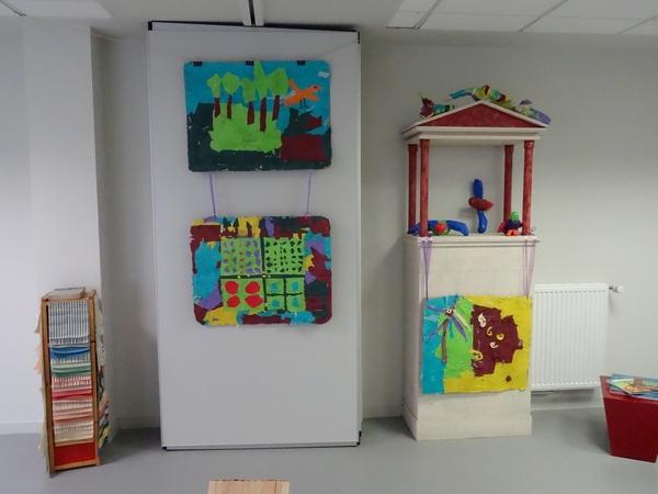L'exposition du travail des élèves du canton de Montigny sur Aube et de Laignes sur le thème de l'Art