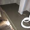 Réalisation du coulage des chapes maigres au mortier (2)