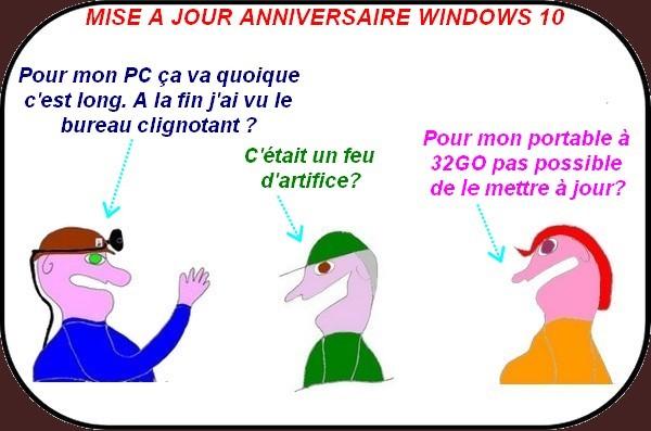 L'impossible mise à jour de Windows 10 anniversaire? l'au secours de Tiotte!