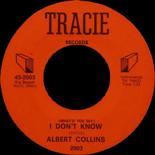 "Albert Collins : Album "" The Cool Sound Of Albert Collins "" TCF Hall Records TCF-8002 [ US ]"
