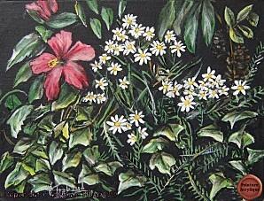 tableau-peinture-les-fleurs-le-lierre-virginie-trabaud