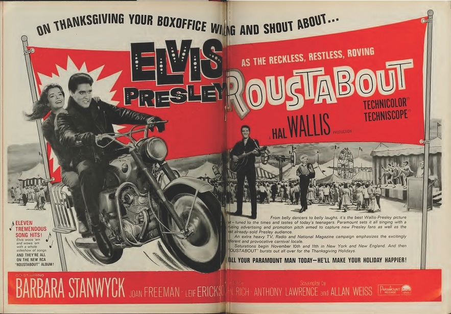 ROUSTABOUT BOX OFFICE USA 1964