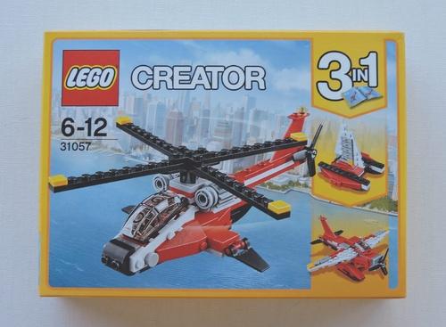 LEGO CREATOR - Hélicoptère rouge (102 pièces)